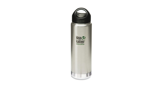Klean Kanteen Wide Insulated Trinkflasche mit Edelstahl Loop Cap 592ml brushed stainless